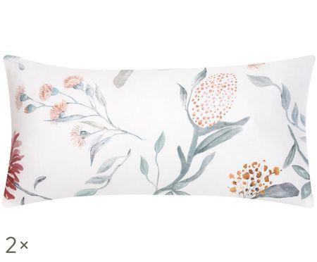 Dwustronna poszewka na poduszkę z satyny bawełnianej Evie, 2szt.