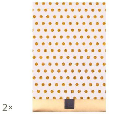 Geschenkenveloppen Glitter Dots, 2 stuks
