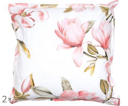 Taies d'oreiller en coton Magnolia, 2 pièces
