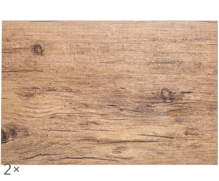 Sets de table en plastique Oak, 2 pièces