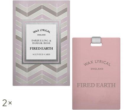 Karta zapachowa Fired Earth, 2 szt. (herbata darjeeling & róża)
