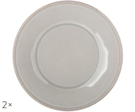 Piatto da colazione Constance in grigio chiaro, 2 pz.