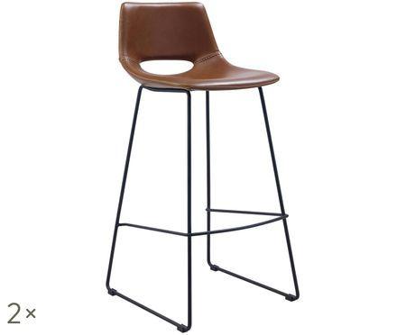 Barové stoličky z umelej kože Zahara, 2 ks