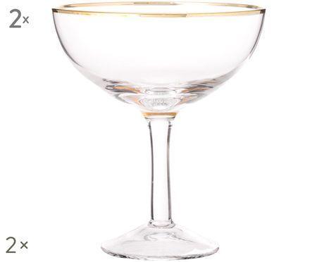 Flute da champagne in vetro soffiato Coppa, 2 pz.