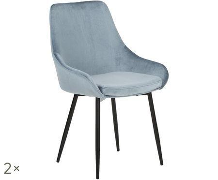 Zamatová stolička East Side, 2 ks