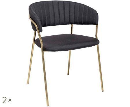 Gestoffeerde stoelen Dini, 2 stuks