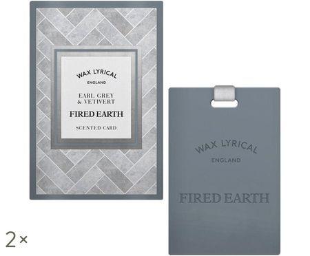 Karta zapachowa Fired Earth, 2 szt. (herbata earl grey & wetiwer)