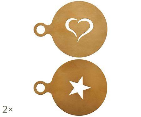Pochoirs pour cappucino Gold, 2 pièces