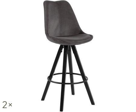 Zamatové barové stoličky Dima, 2 ks