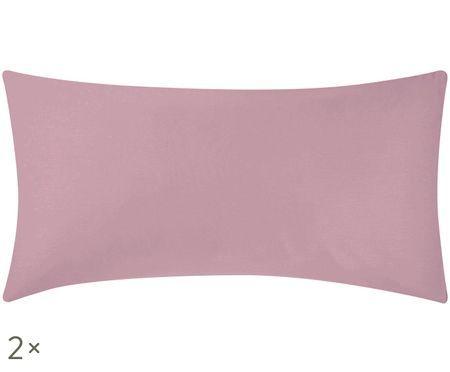 Baumwollsatin-Kissenbezüge Comfort in Mauve, 2 Stück