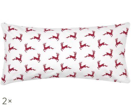 Flanelová obliečka na vankúš Rudolph, 2 ks