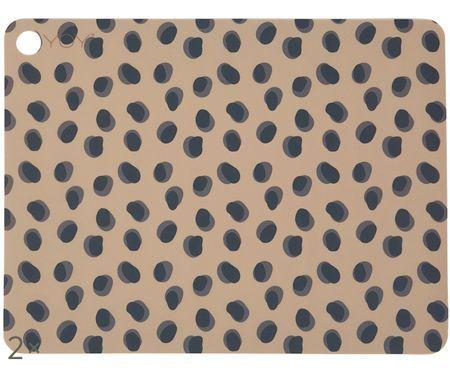 Silikon Tischsets Leopard, 2 Stück