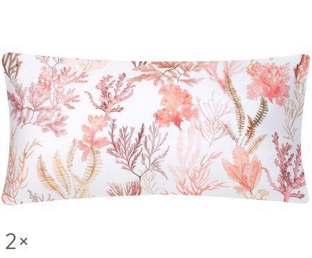 Dwustronna poszewka na poduszkę z satyny bawełnianej Coral, 2 szt.