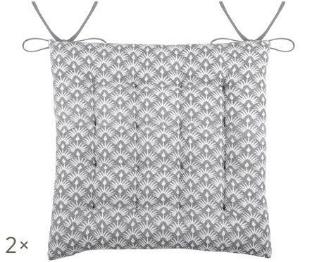 Dwustronna poduszka na krzesło Palma, 2 szt.