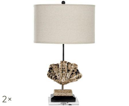 Lampa stołowa XL Shell, 2 szt.