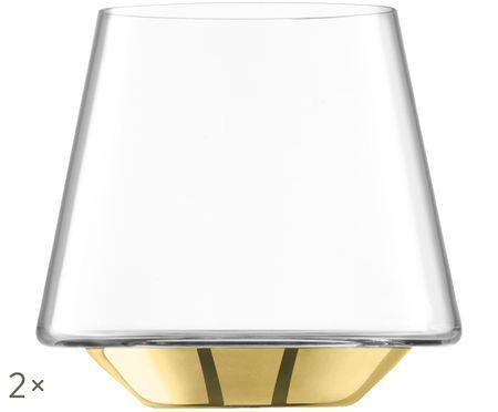 Vasos de agua de vidrio soplado Space, 2uds.
