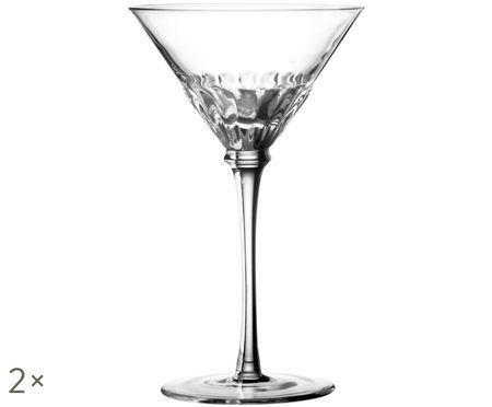 Bicchieri da martini in vetro soffiato Solar, 2 pz.