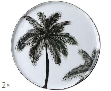 Raňajkový tanier Palms, 2 ks