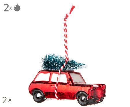 Décorations de sapin de Noël Car, 2pièces