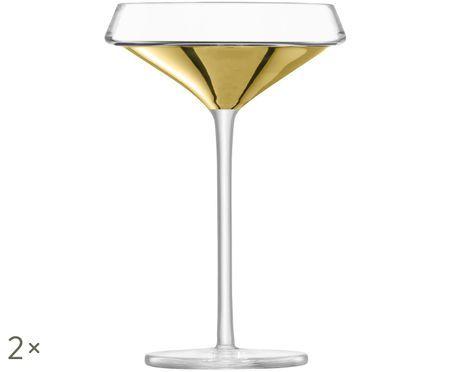 Copas de champán sopladas a mano Space, 2pzas.