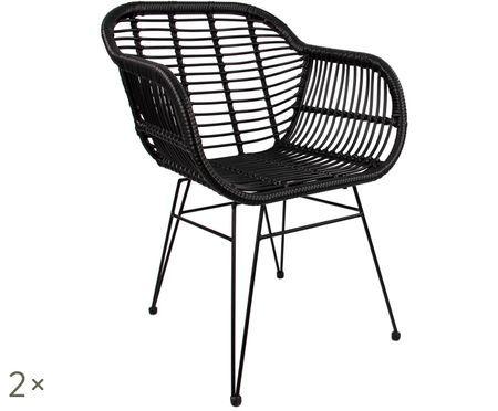 Stolička s opierkami Costa, 2 ks