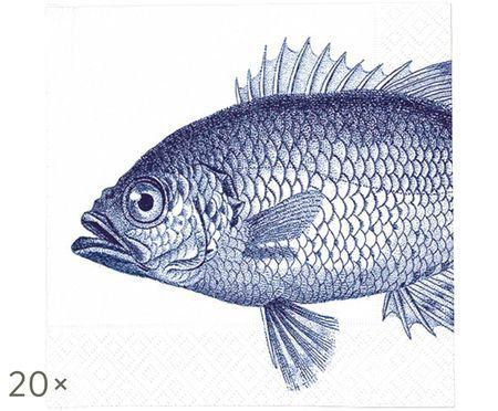 Tovaglioli di carta Fish Marine, 20 pz.