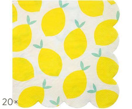 Papieren servetten Lemon, 20 stuks