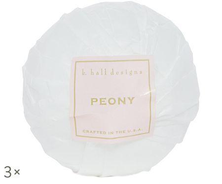 Boule de bain Peony, 3pièces (senteur floral)