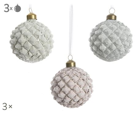 Set palline di Natale Crackle, 3 pz.