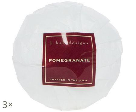 Boules de bain Pomegranate, 3pièces (grenade, pomme & prune)