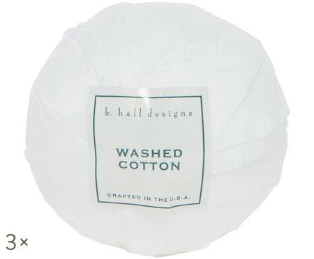Sfere da bagno Washed Cotton, 3 pz. (lavanda e camomilla)