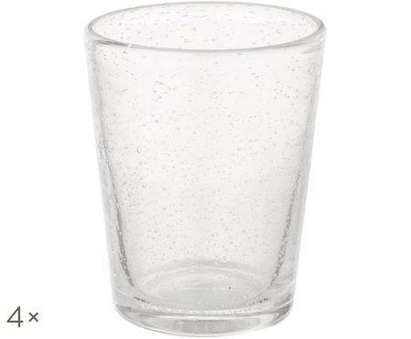 Szklanka do wody ze szkła dmuchanego Bubble, 4 szt.