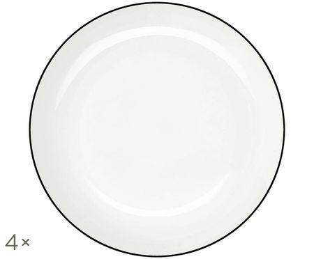 Assiettes creuses À Table ligne noire, 4pièces