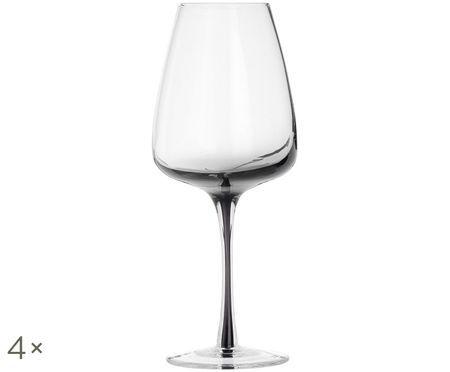 Bicchiere da vino bianco in vetro soffiato Smoke, 4 pz.