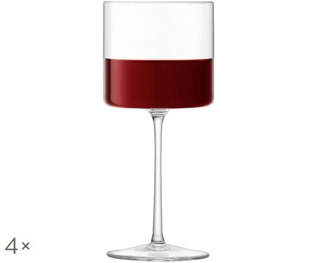 Rode wijnglazen Otis, 4 stuks