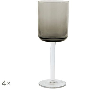 Fúkaný pohár na víno Retro, 4 ks