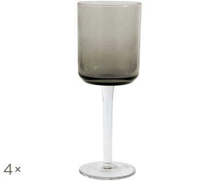 Copas de vino sopladas Retro, 4uds.