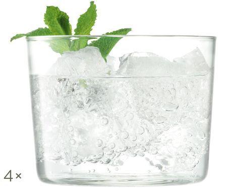 Bicchieri per l'acqua in vetro soffiato Gio, 4 pz.