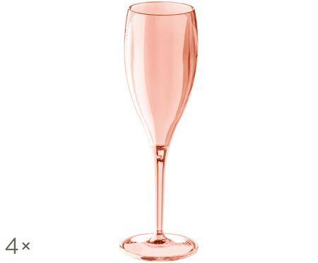 Trwały kieliszek do szampana z tworzywa sztucznego Cheers, 4 szt.