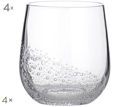 Bicchieri in vetro soffiato Bubble, 4 pz.