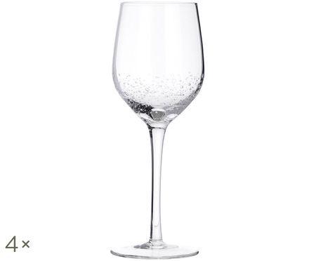 Kieliszek do wina białego ze szkła dmuchanego Bubble, 4 szt.