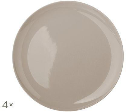 Handgemaakte dinerborden Bisque, 4 stuks