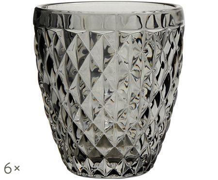 Pohár na vodu Diamond so štruktúrou, 6-dielna súprava