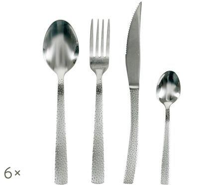 Set di posate d'argento Posate in acciaio inossidabile 18/10, 6 persone (24 pezzi)