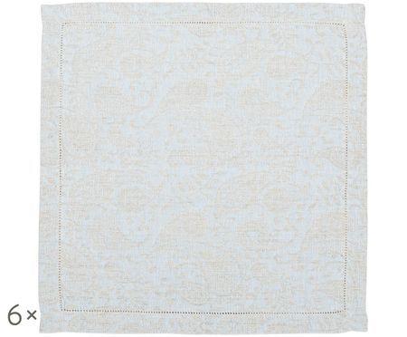 Tovaglioli in lino Agila con motivo paisley, 6 pezzi