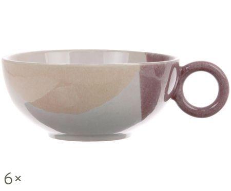 Súprava ručne vyrobených čajových šálok Gallery, 6 ks