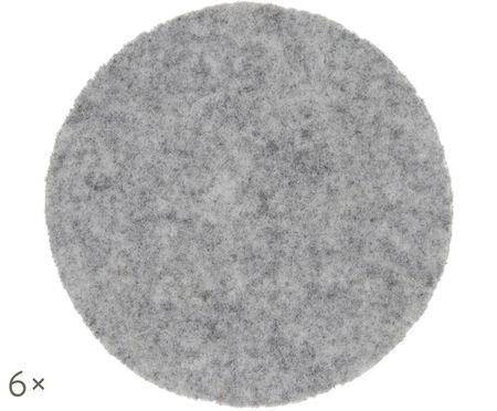 Wollfilz-Untersetzer Leandra, 6 Stück