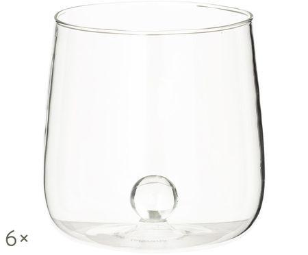 Szklanka do wody ze szkła dmuchanego Bilia, 6 szt.