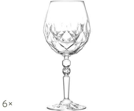 Copas de vino rojo de cristal Calicia, 6uds.