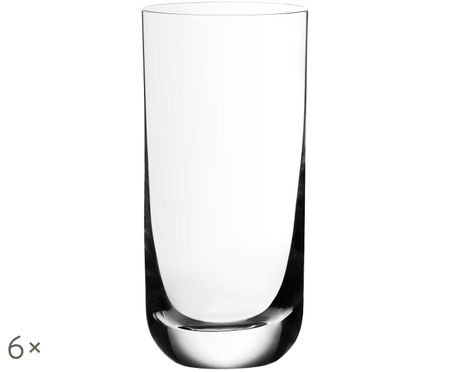 Verres à long drink en cristal Harmony, 6pièces